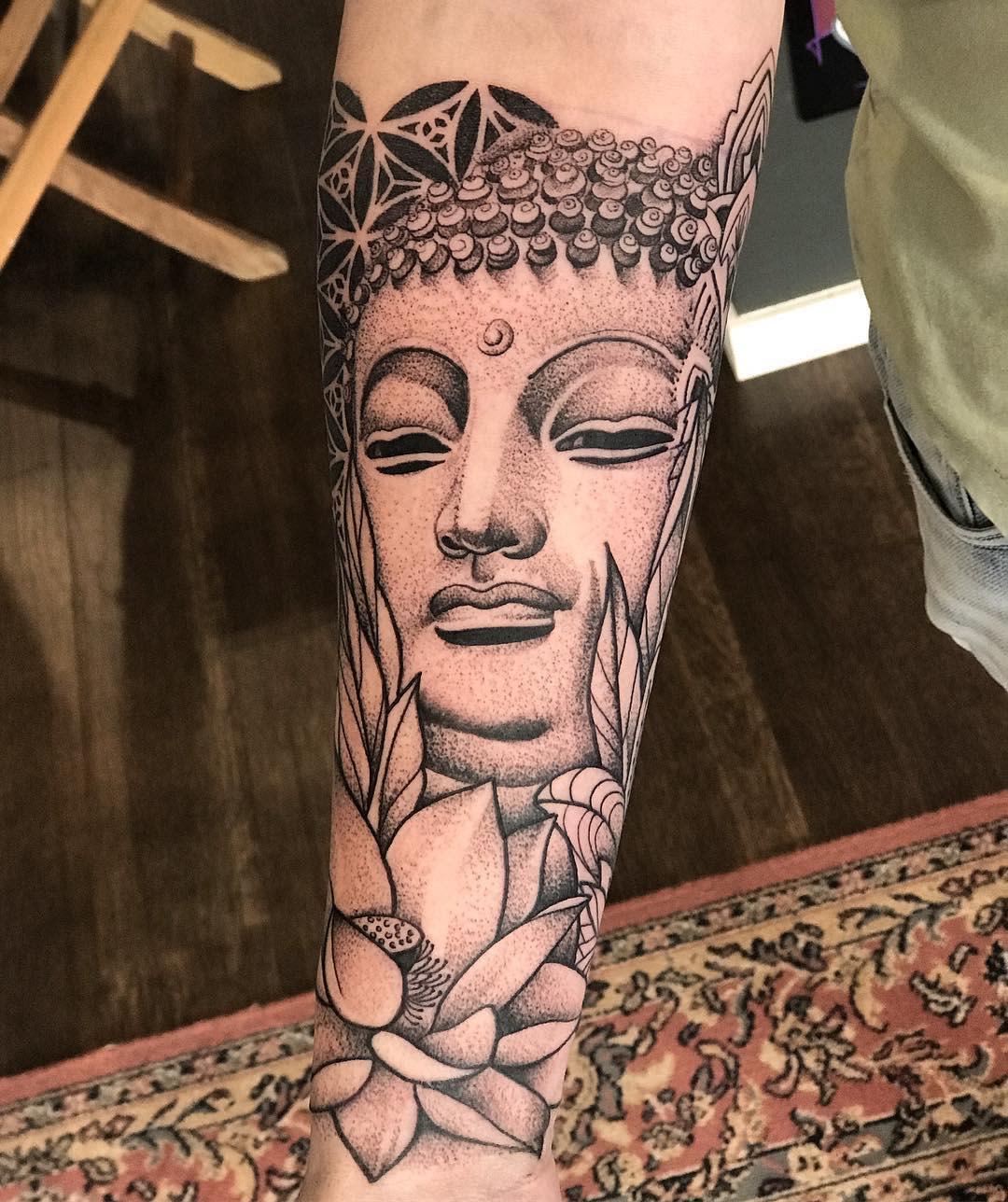 Oriental Buddha Tattoo -tattoosbyeloise