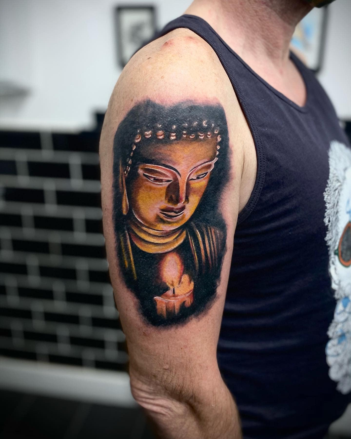 Shoulder Buddha Tattoo -jaysart80