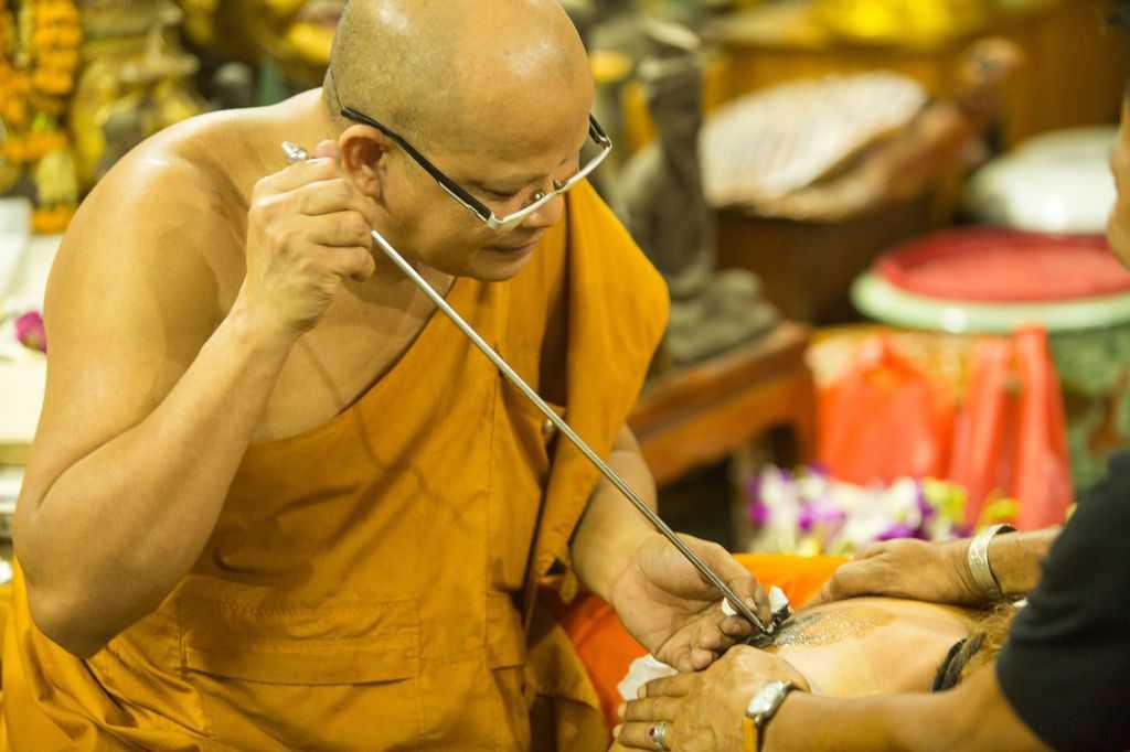 Buddhist Monk Tattoos Subject Sakyant Stick And Poke Traditional