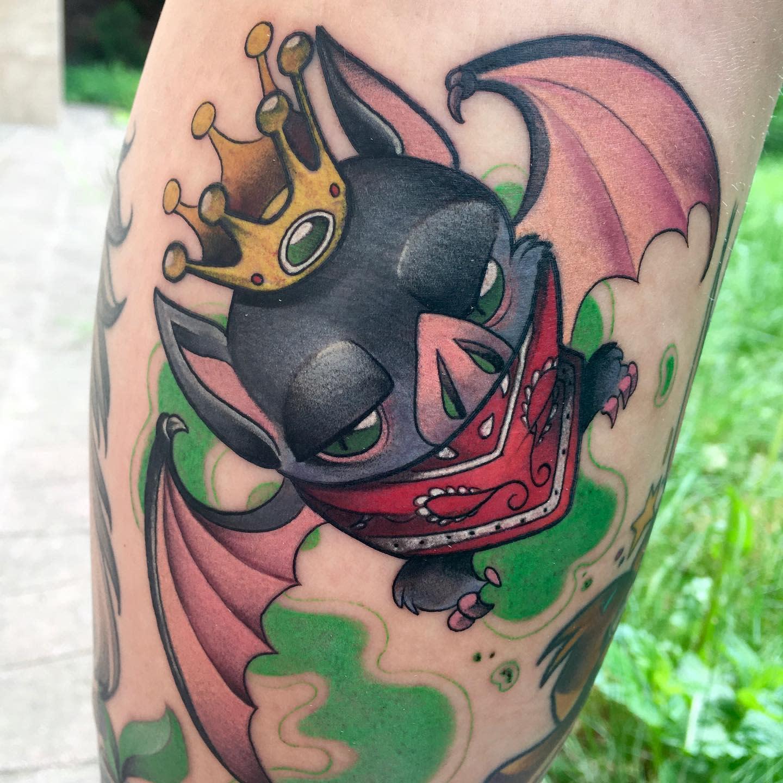 Bat COVID Tattoo -petjaevlogieva