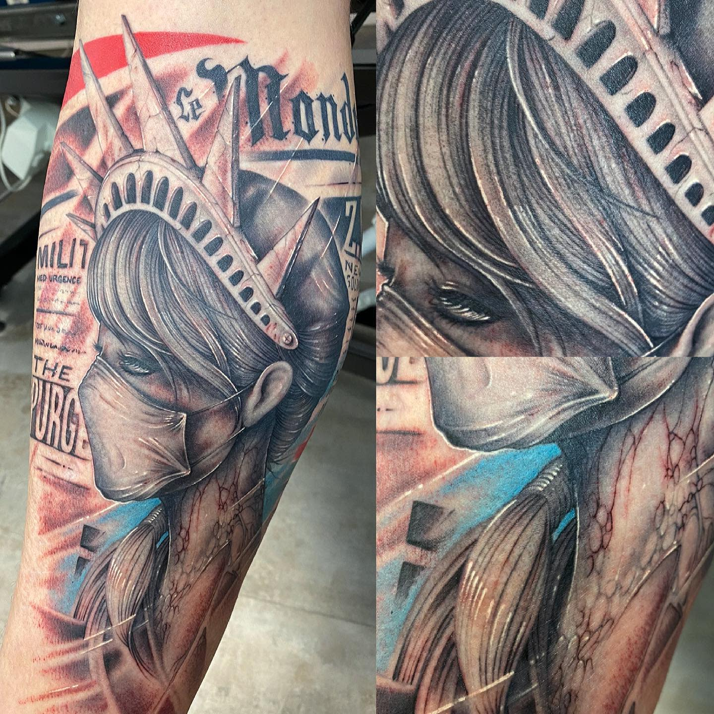 Facemask COVID Tattoo -medtattoo
