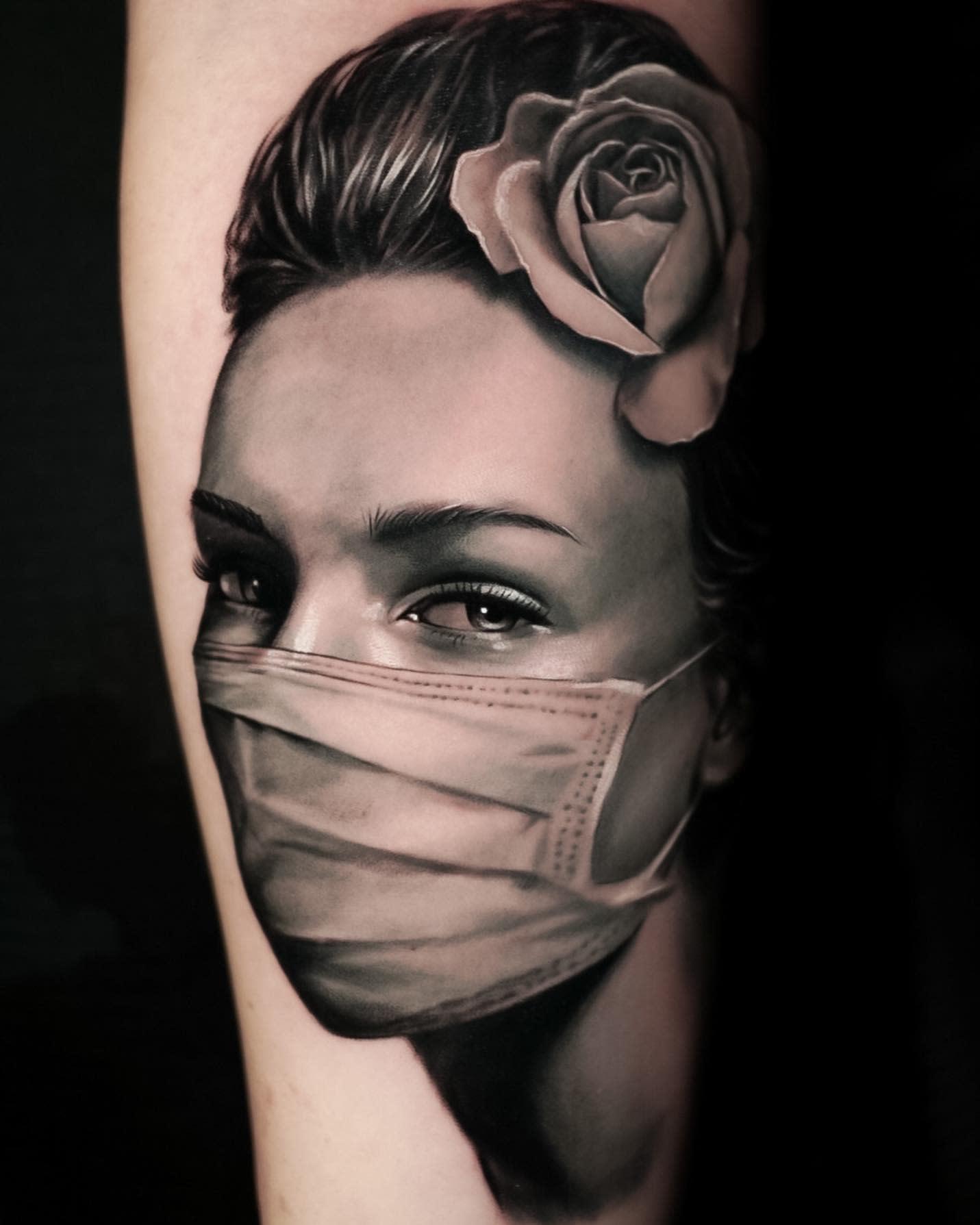 Facemask COVID Tattoo -robbieflaviani