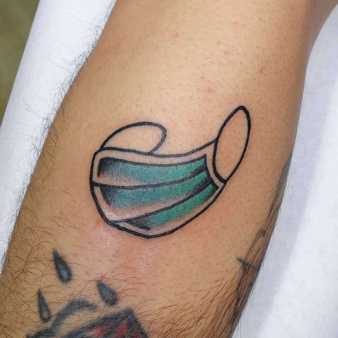 Facemask COVID Tattoo -rubengcao