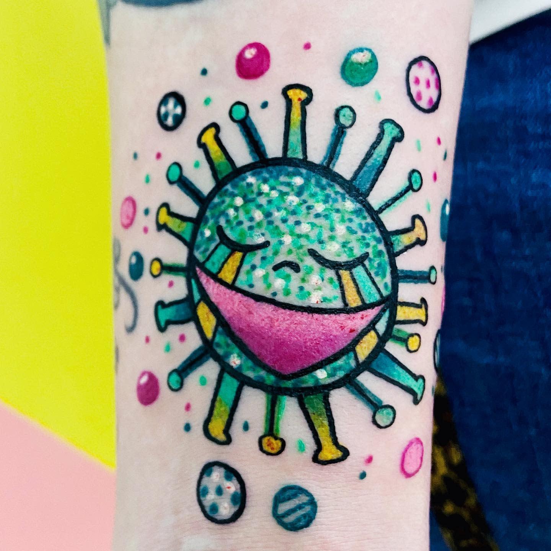 Forearm COVID Tattoo -_pepitagrilla_