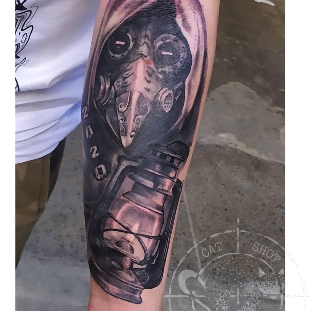 Forearm COVID Tattoo -victoria.koteva.artwork