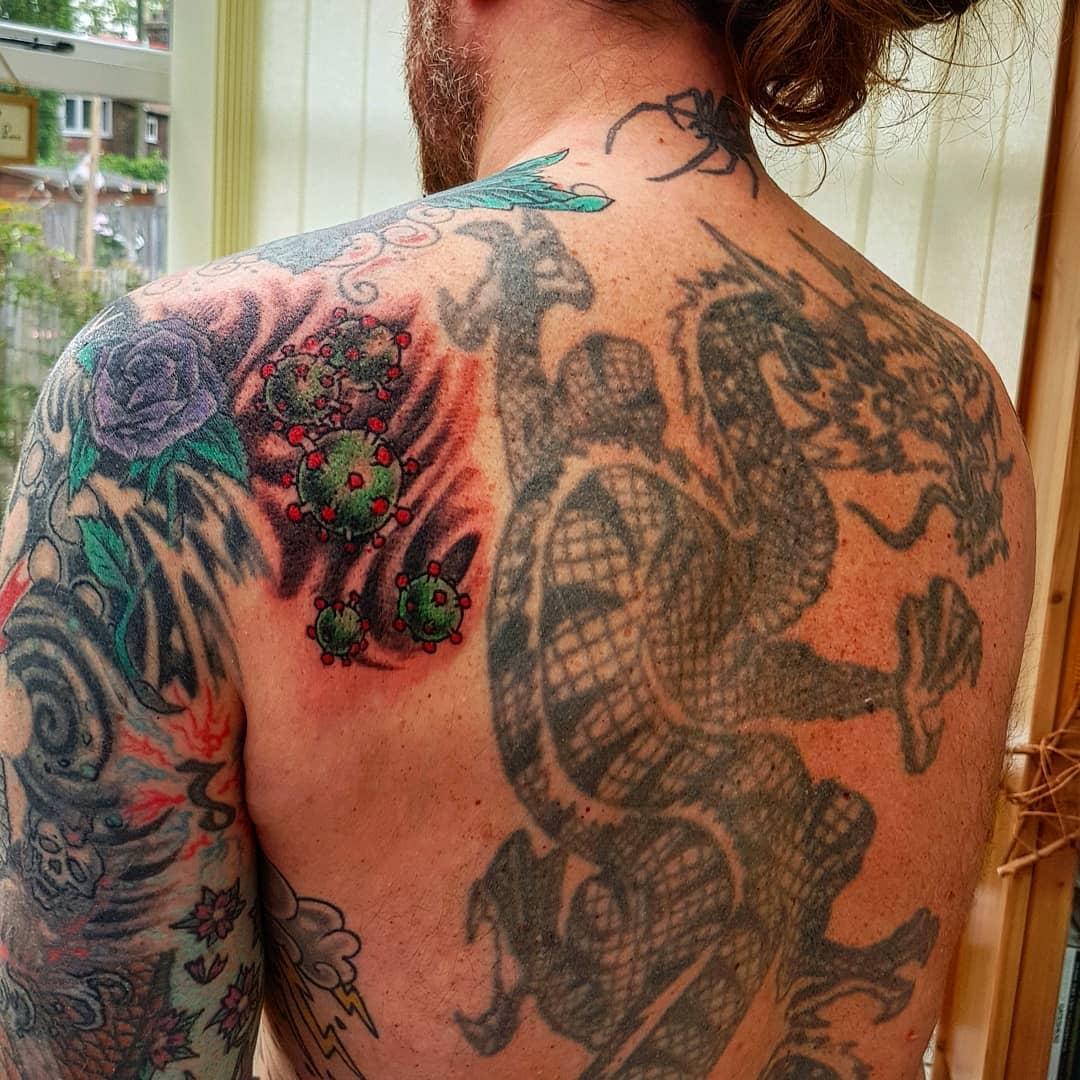 Shoulder COVID Tattoo -mrgavgee