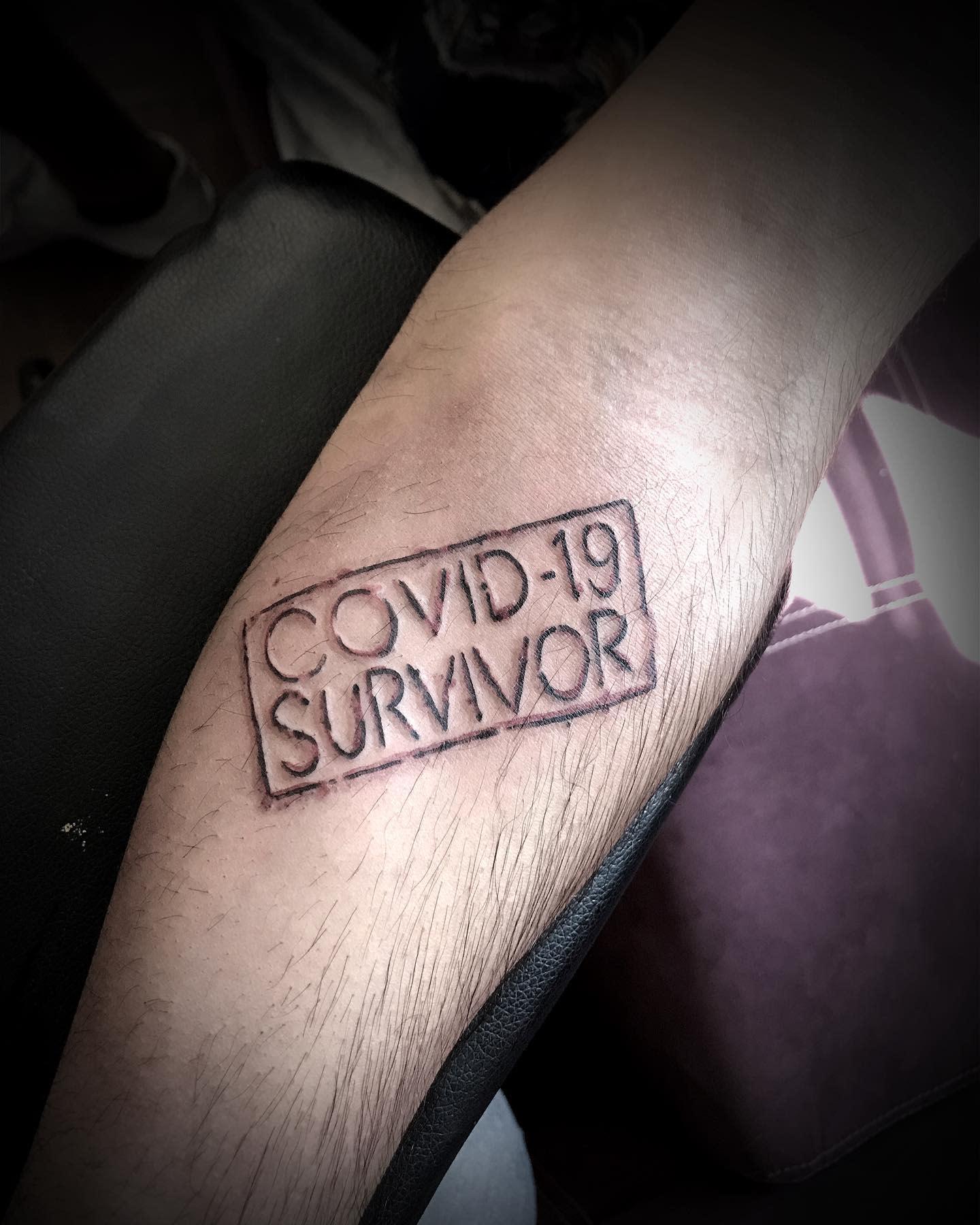 Simple COVID Tattoo -teleparke