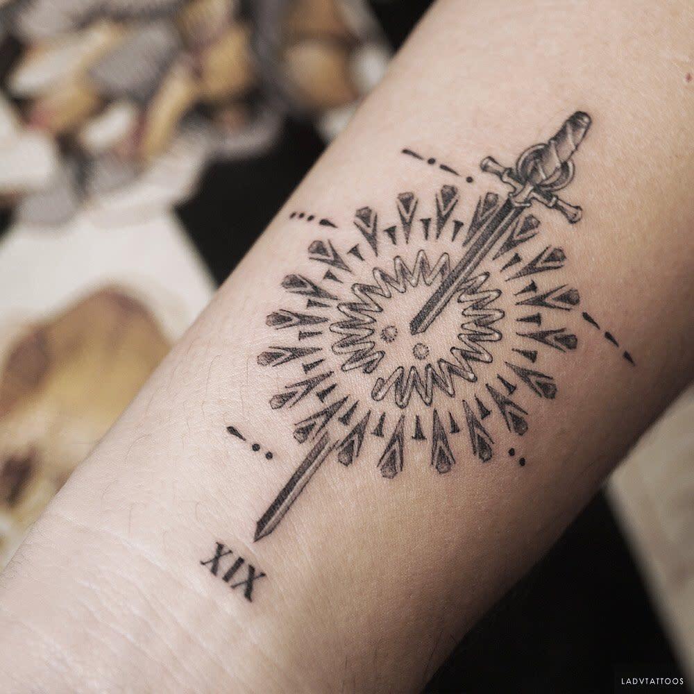 Small COVID Tattoo -ladvtattoos
