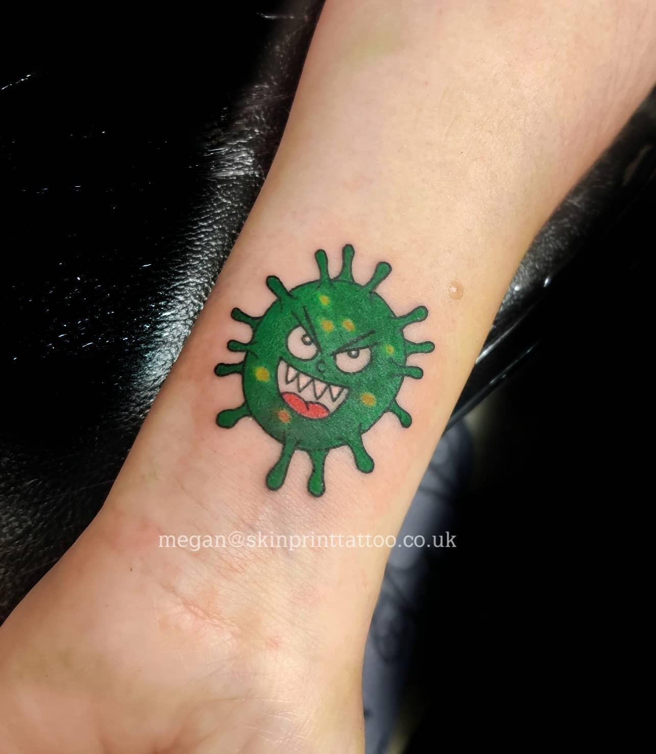 Small COVID Tattoo -skinprinttattoostudio