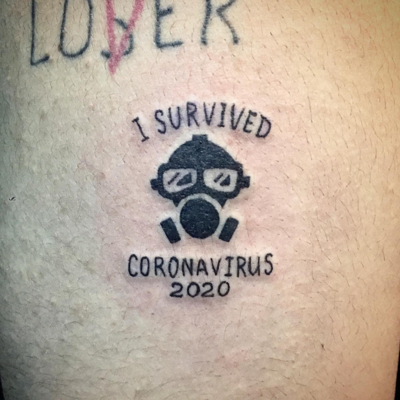 Small COVID Tattoo -zebratattooz