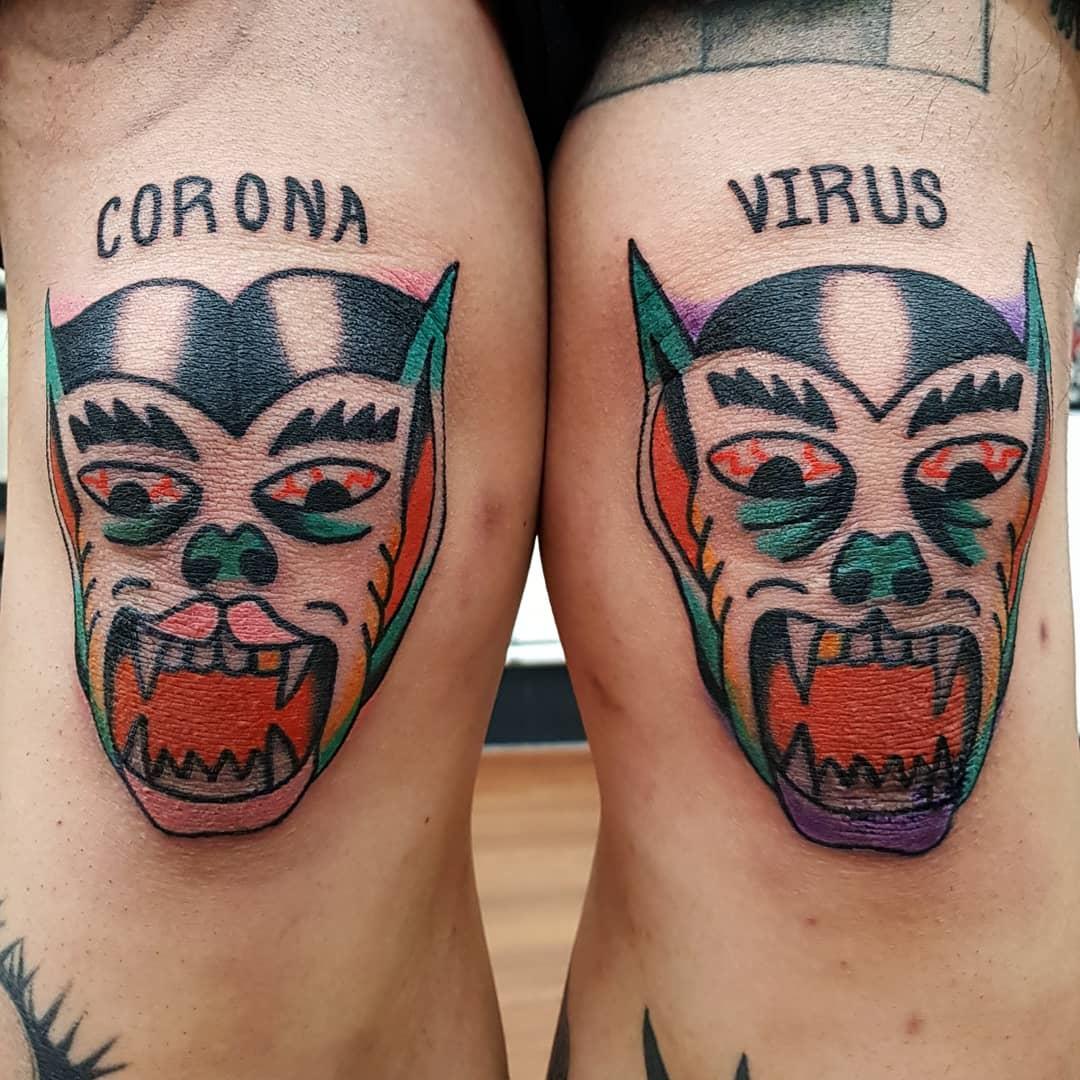 Traditional COVID Tattoo -sailorjoory