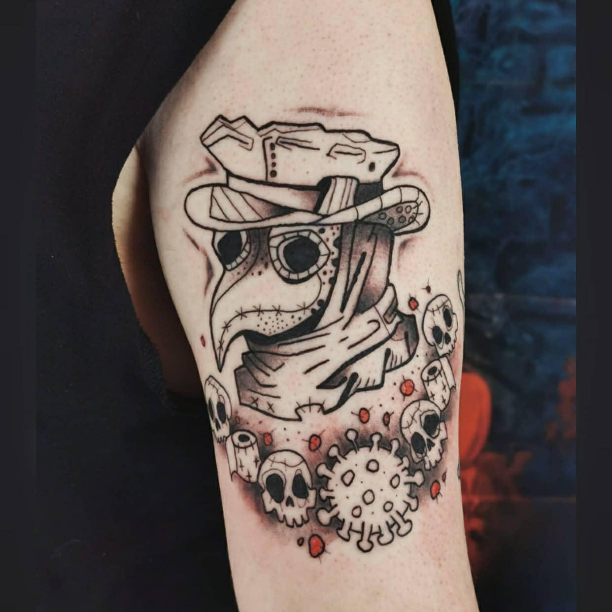Upperarm COVID Tattoo -sottize.tattoo.art