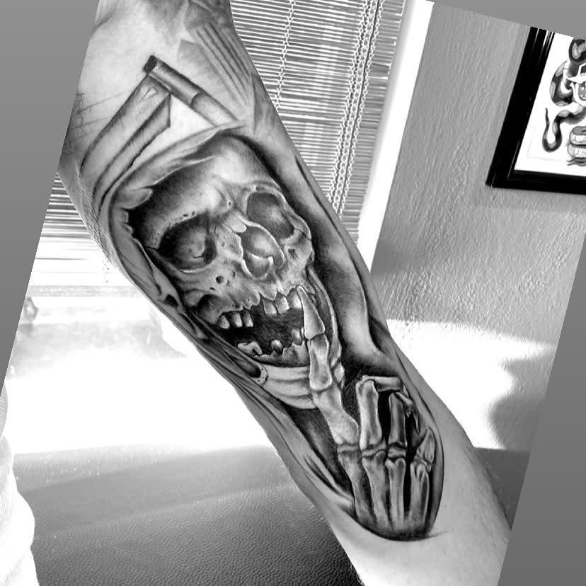 Upperarm COVID Tattoo -thedriftersink