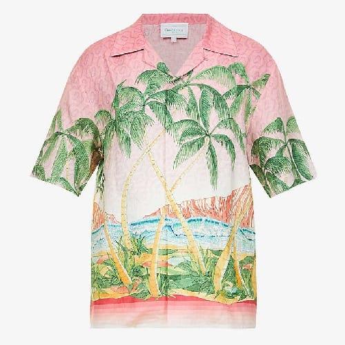 Casablanca Cuban Collar-Print Shirt