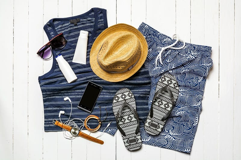 Casual, Swimwear and Outerwear - Essentials Travel Checklist For Men