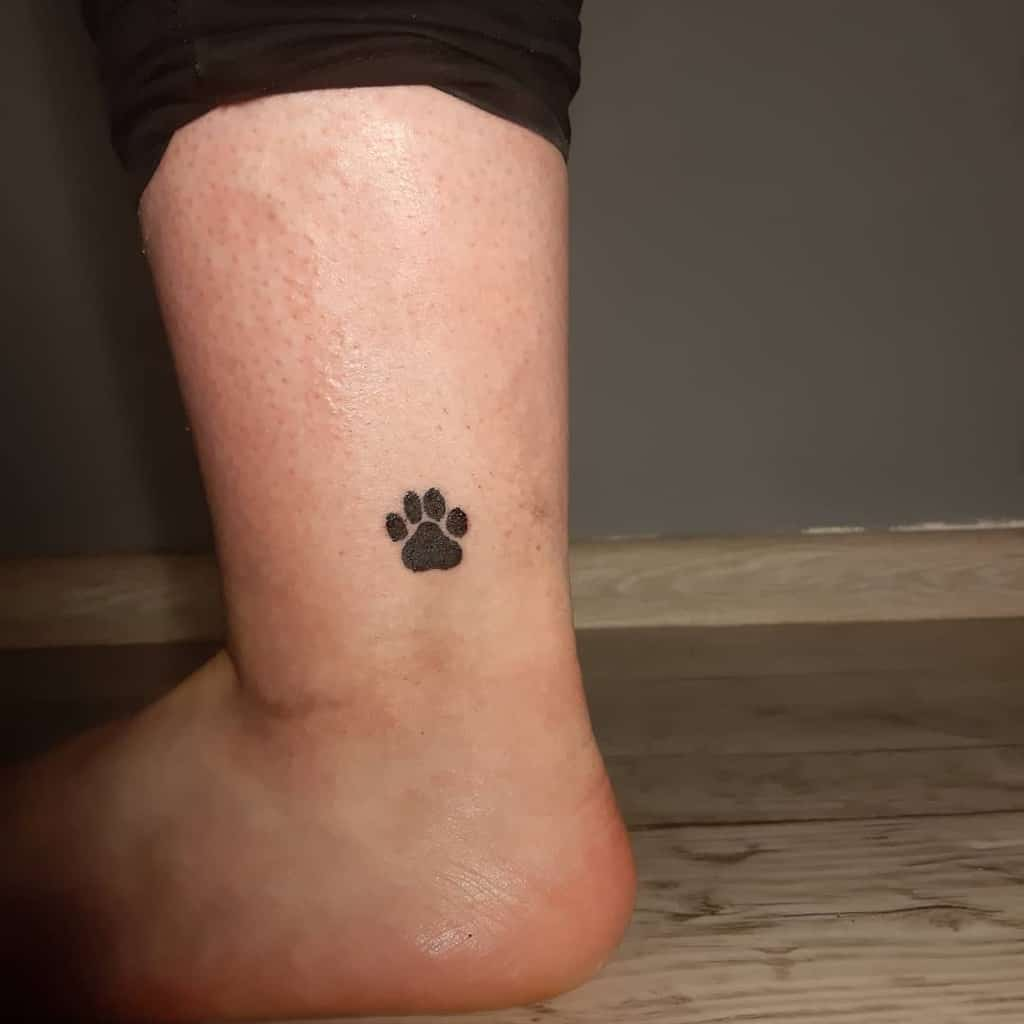 Cat Paw Print Ankle Tattoo dirty_art_tatts