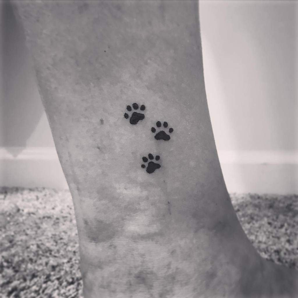 Cat Paw Print Ankle Tattoo labink.tattoo