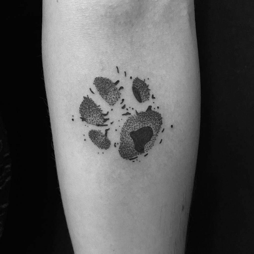Cat Paw Print Arm Tattoo mist_ink__