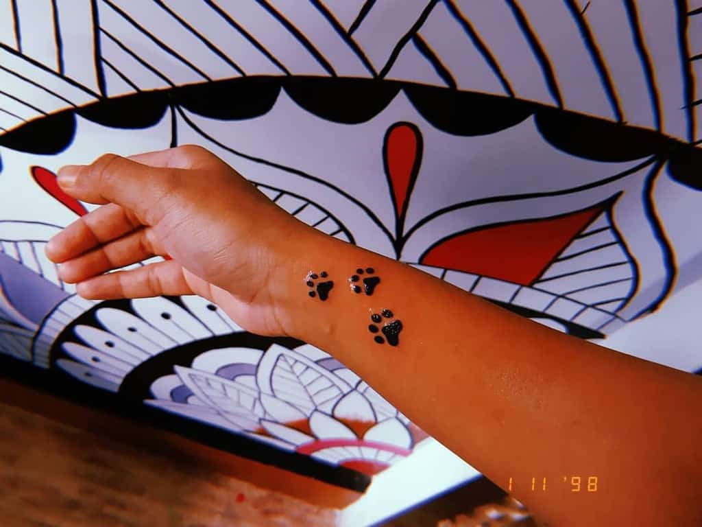Cat Paw Print Wrist Tattoo gauravtattoo