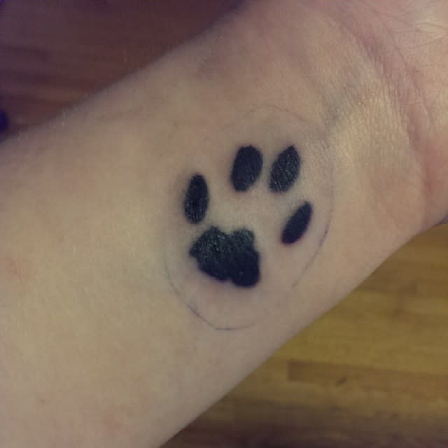 Cat Paw Print Wrist Tattoo hagins_sam