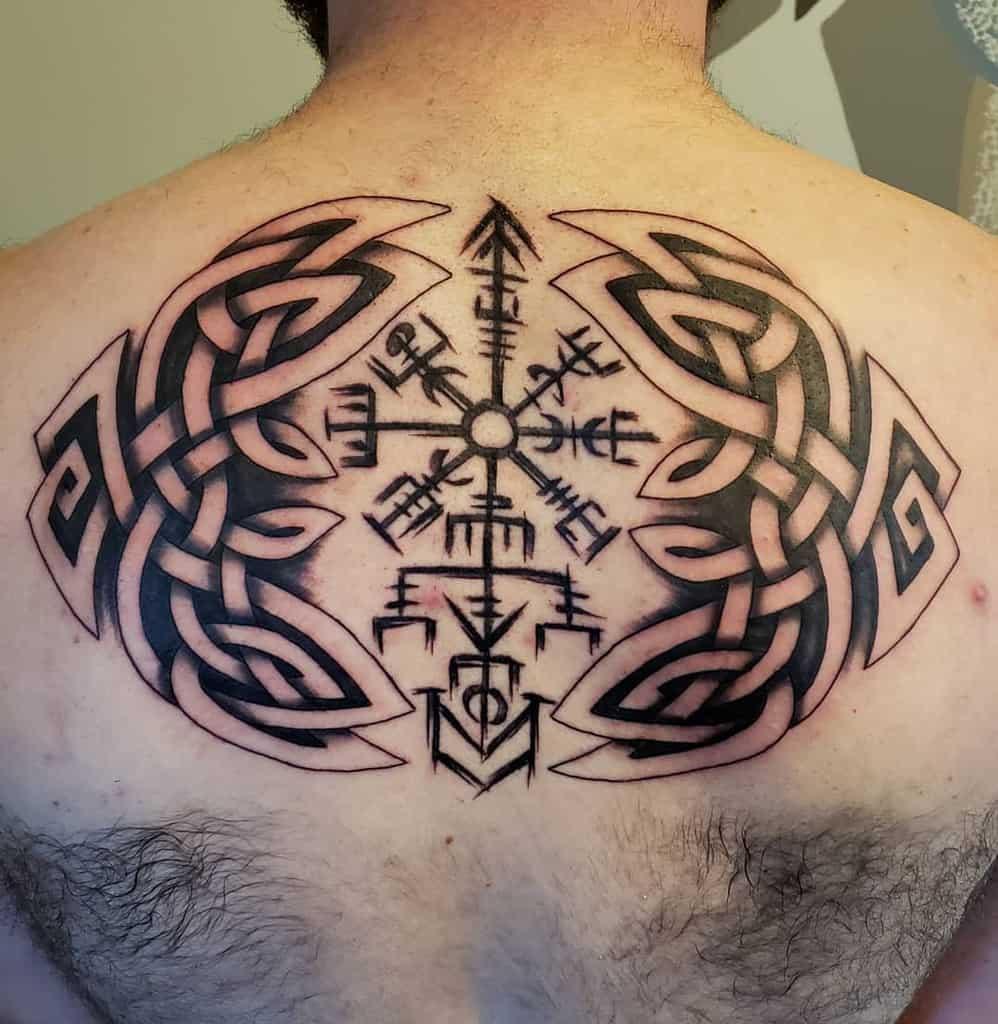 Celtic Tribal Back Tattoo tattoosbyjessward