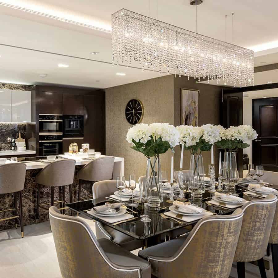 Chandeliers dining room lighting ideas manooi_middle_east
