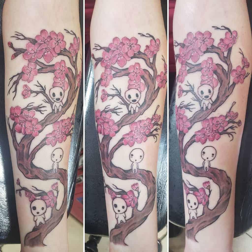 Cherry Blossom Kodama Princess Monoke