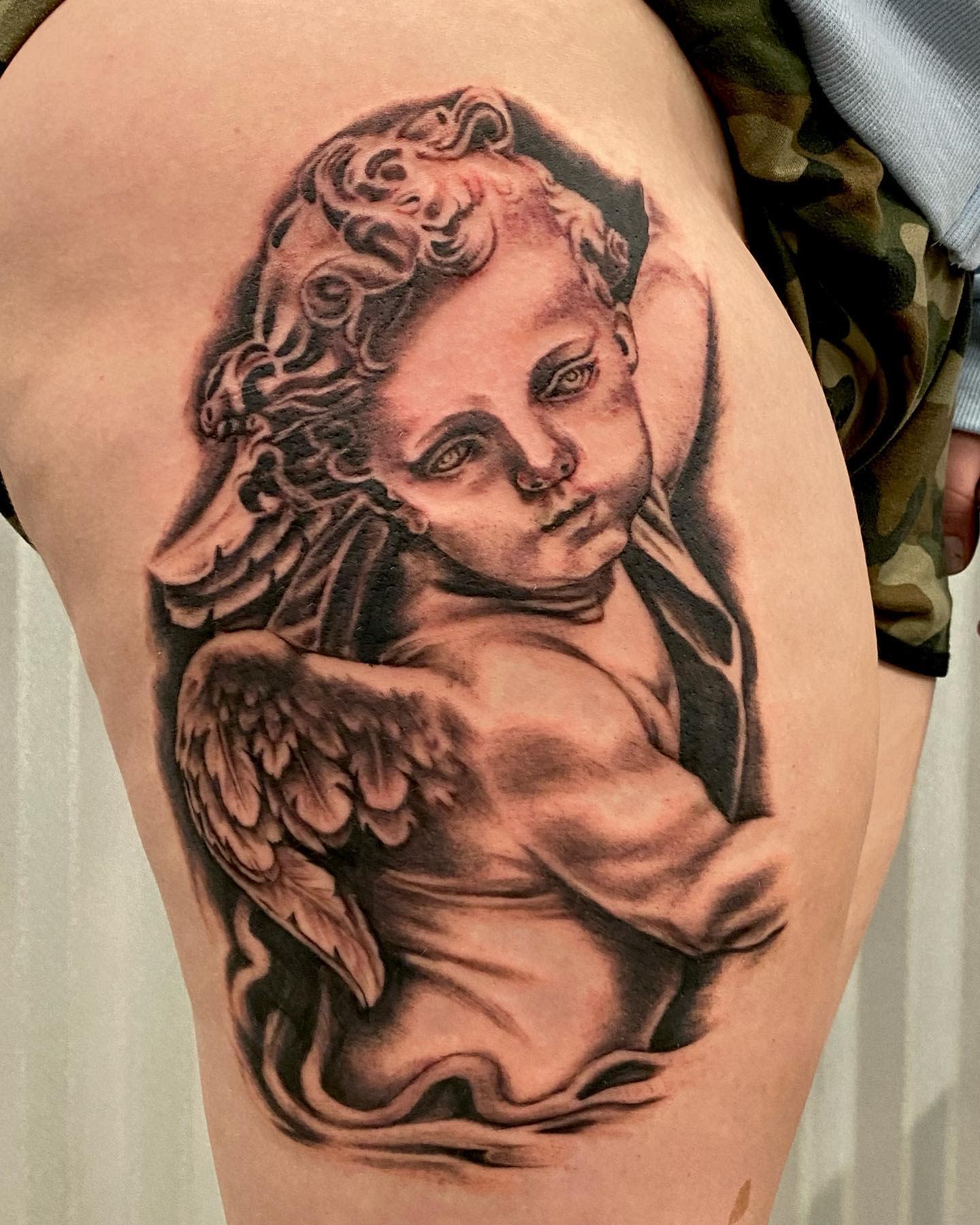 Black Cherub Tattoo -shannonblinn