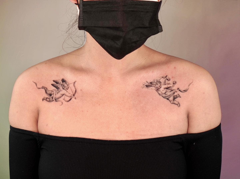 Cherub Chest Tattoo -parkermidnight