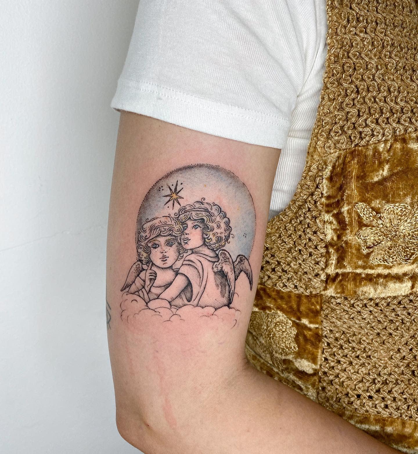 Cute Cherub Tattoo -aniramchi