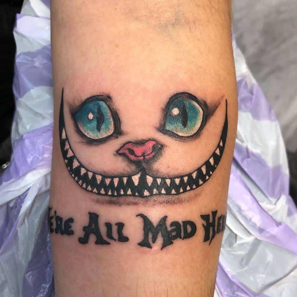 Cheshire Cat Smile Tattoo addiebodyartist