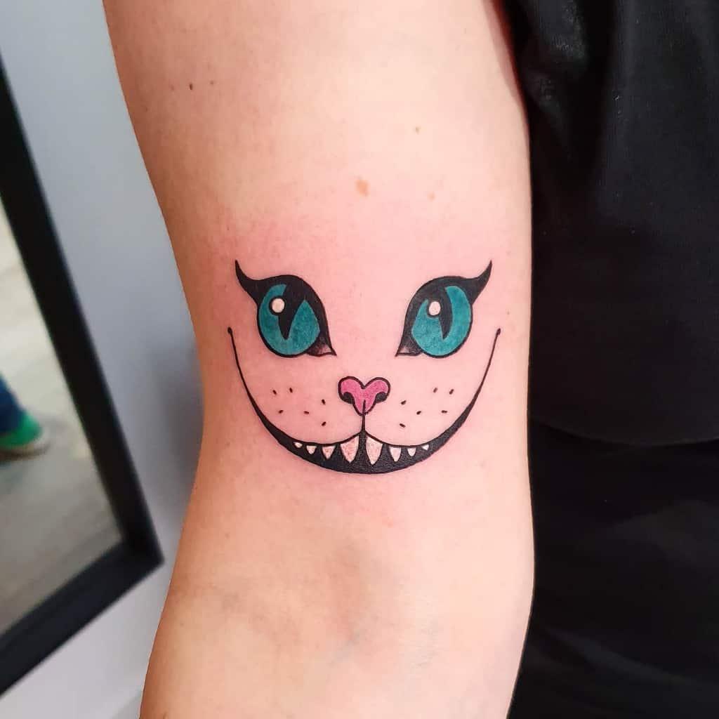 Cheshire Cat Smile Tattoo shelbykooky