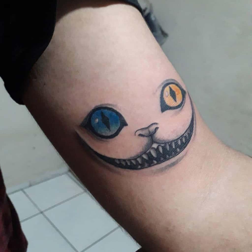 Cheshire Cat Smile Tattoo yakuzainky