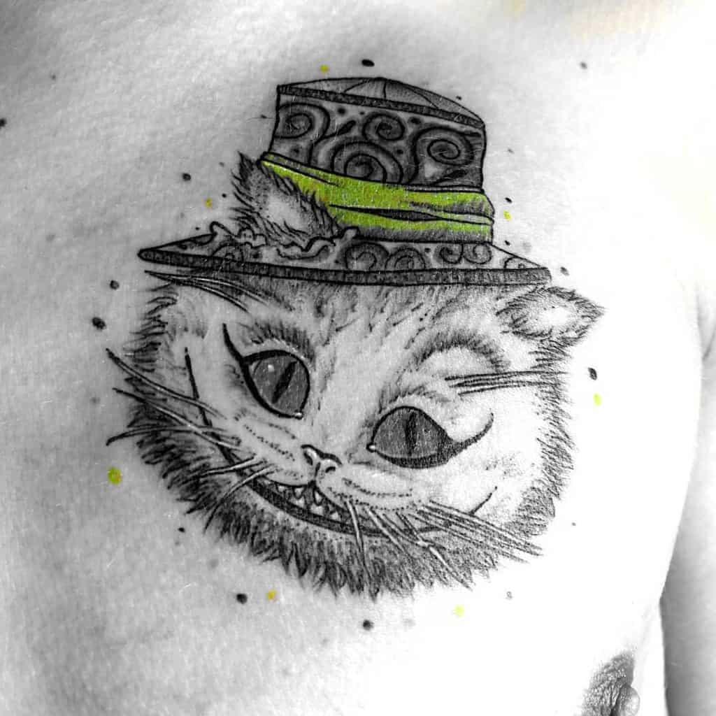 Cheshire Cat Tattoo Images Alice In Wonderland Misasarming