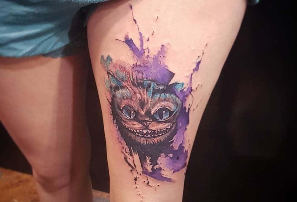 Cheshire Cat Tattoo Images Alice In Wonderland Santa Tinta