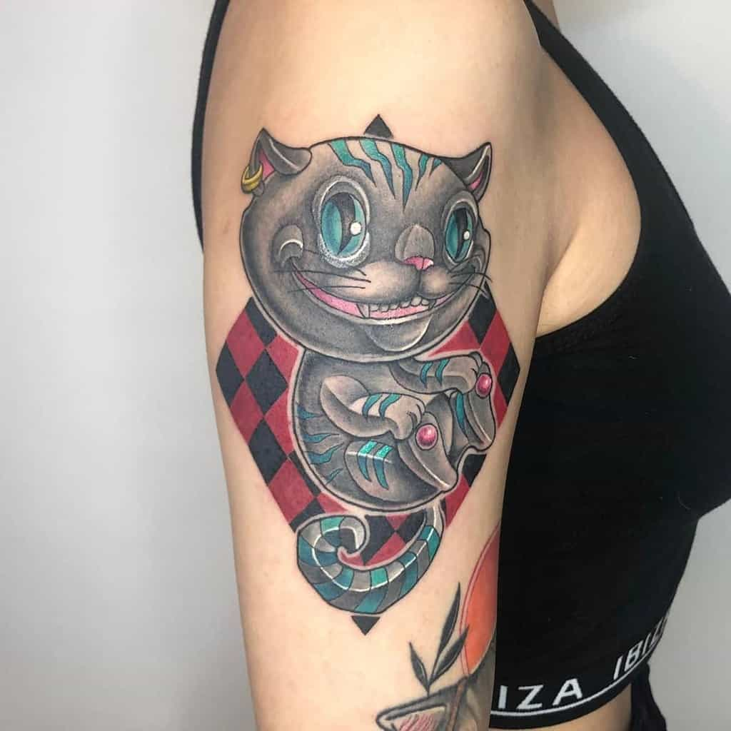 Cheshire Cat Tattoo Images Alice In Wonderland Tattoo Ciaociao