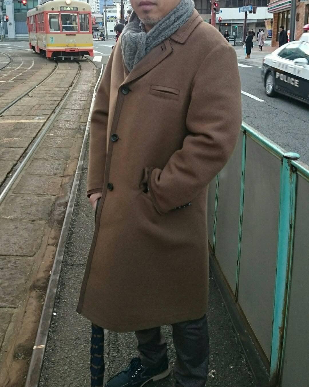 Brown Chesterfield Coat -ukiwanosuke