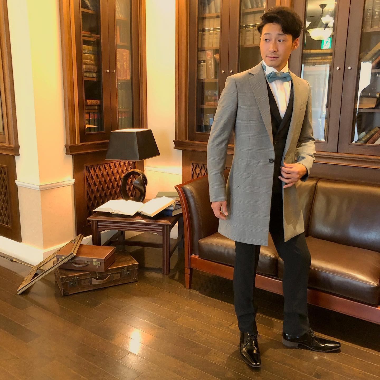Grey Chesterfield Coat -dress_bridalattendant_pur