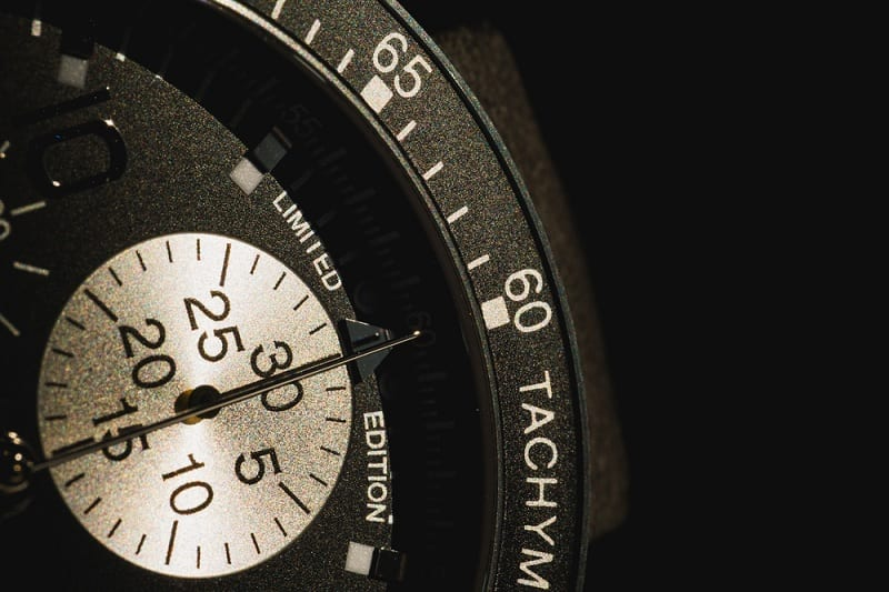 Close Up of Tachymeter on Watch