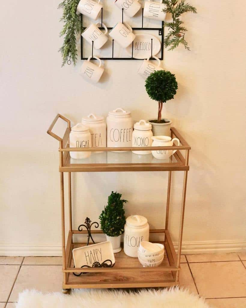 Coffee Bar Cart Ideas -bless.mama