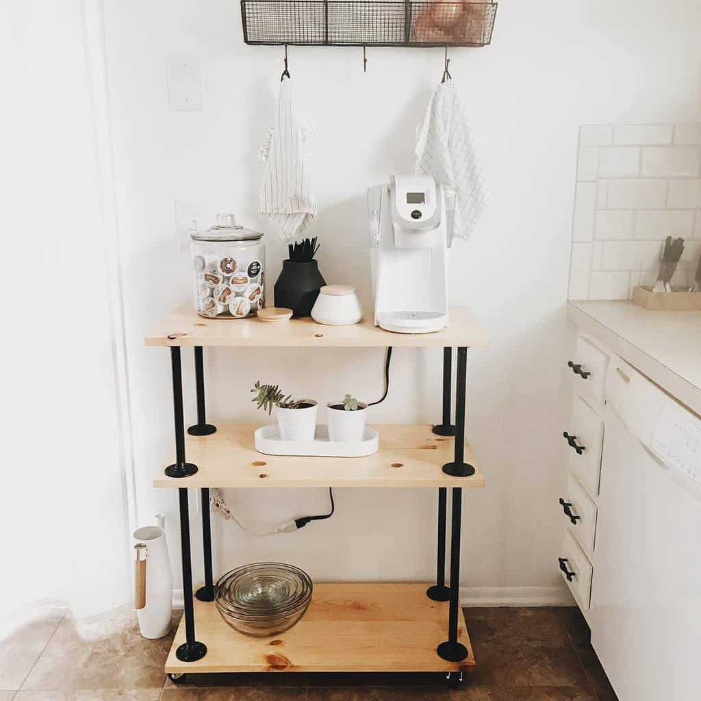 Coffee Bar Cart Ideas -evamaeshrock