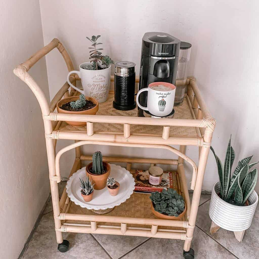Coffee Bar Cart Ideas -jessicaa_alva