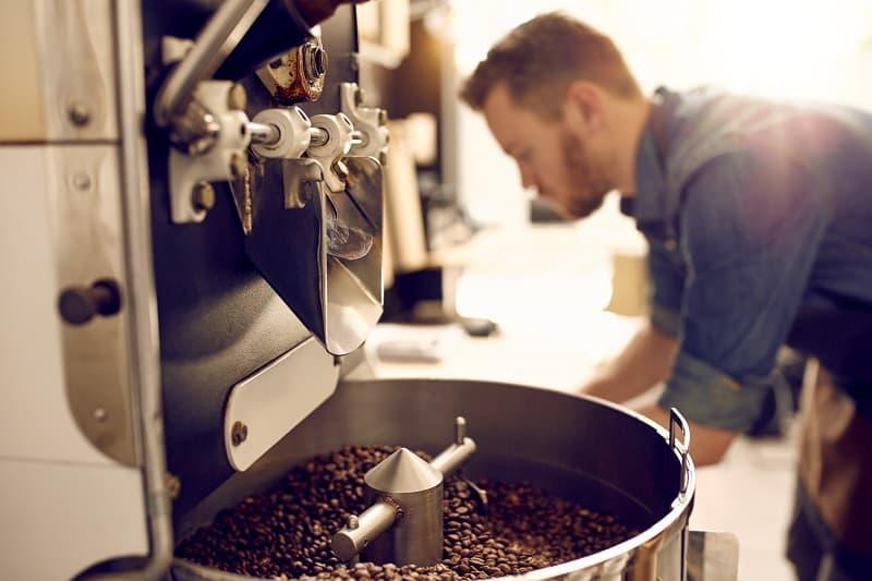 Dark,And,Aromatic,Coffee,Beans,In,A,Modern,Roasting,Machine