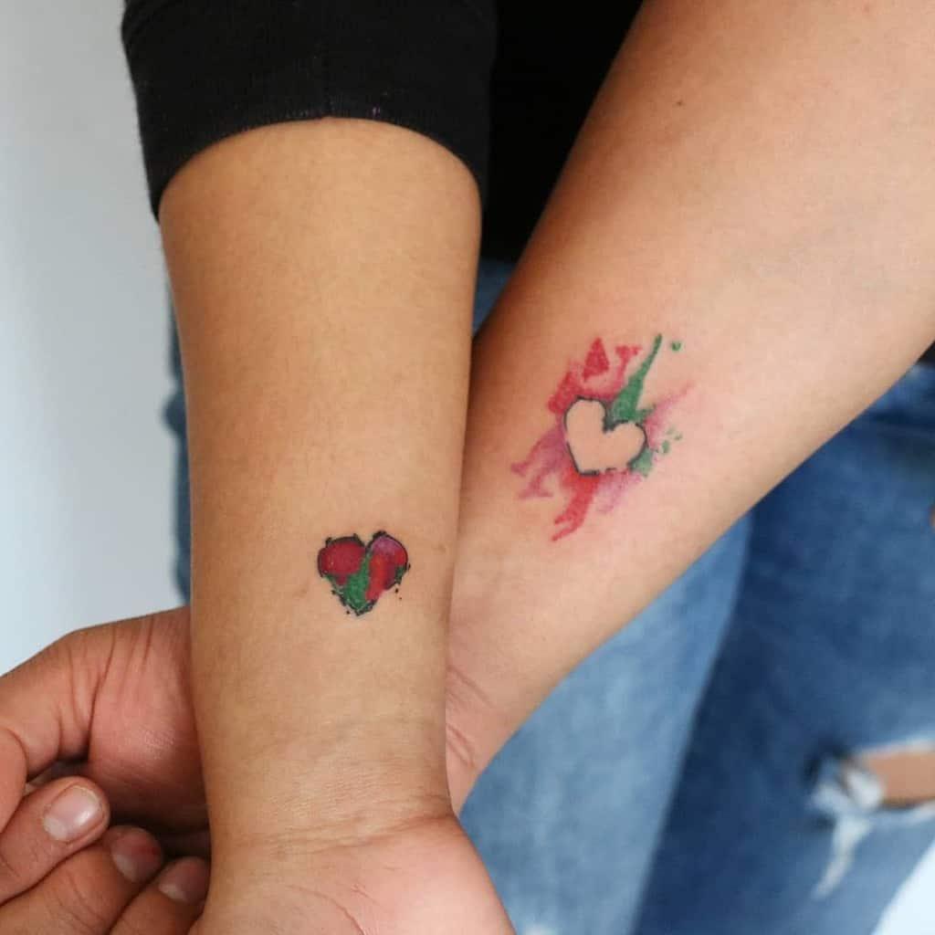 Color Heart Tattoo Canolotattoo