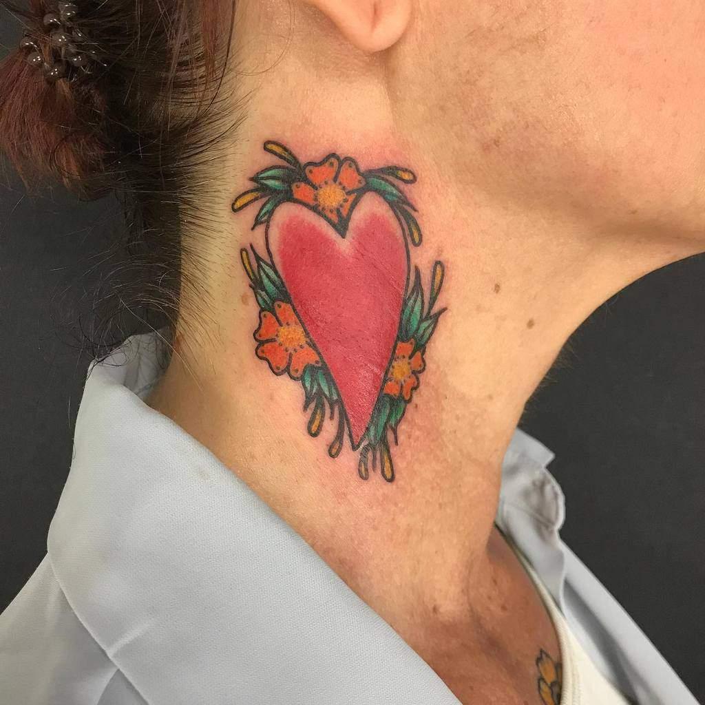 Color Heart Tattoo Tuschdanne