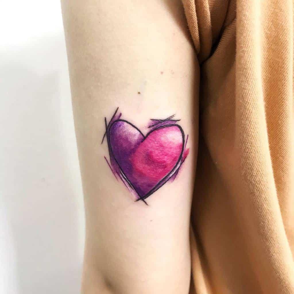 Color Heart Tattoo Vink.son