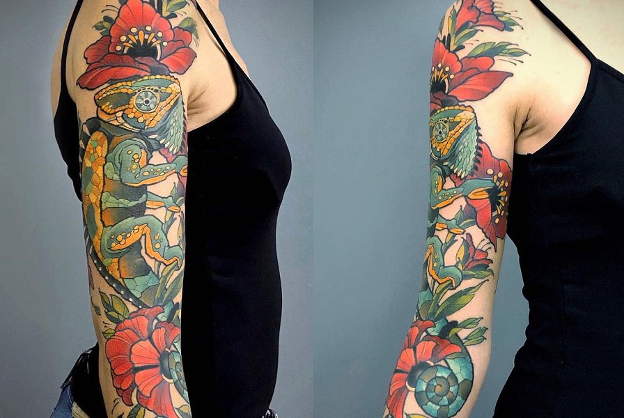 Top 47 Best 3/4 Sleeve Tattoo Ideas – [2020 Inspiration Guide]