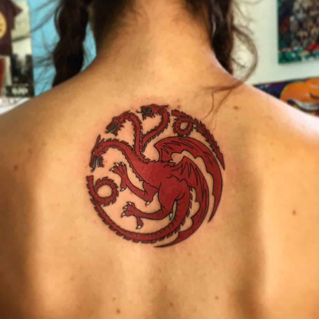 Colored Game of Thrones Dragon Tattoo marcoart91