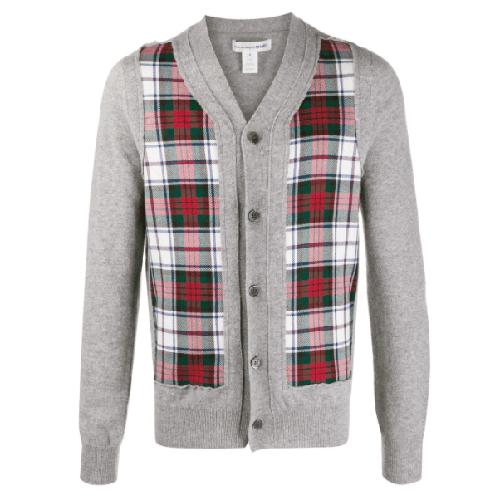 Comme-Des-Garcons-Shirt-Plaid-Panelled-Cardigan