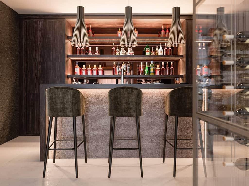 Corner Basement Bar Ideas originalsinteriorsmarbella